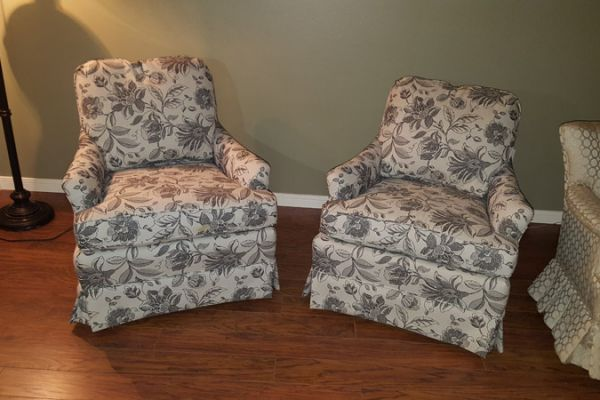 Houston side chair reupholstery by Elegant Upholstery