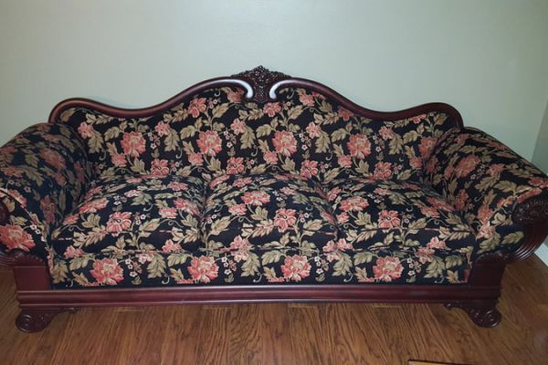 Houston Antique Couch Restoration by Elegant Upholstery