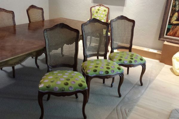 Dining Chairs Reupholstery Sugar Land, TX by Elegant Upholstery
