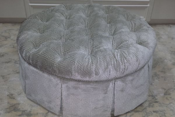 Custom Tufted Ottoman Upholstery Houston, TX