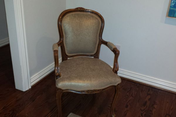 Queen Anne Side Chair Upholstery Houston, TX