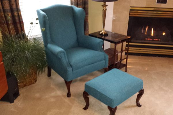 Wing-Back Chair Upholstery The Woodlands, TX by Elegant Upholstery