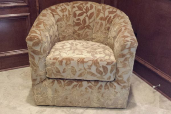 Club Chair With Burn-Our Velvet Cypress, TX by Elegant Upholstery