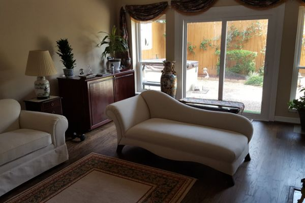 Chaise lounge upholstery by Elegant Upholstery Houston