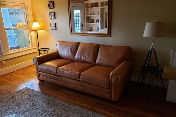 Leather Sofa Reupholstery by Elegant Upholstery