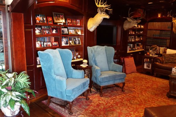 Custom Wing-Back Chairs by Elegant Upholstery in Houston
