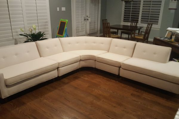 Sectional Reupholstered by Elegant Upholstery in Houston