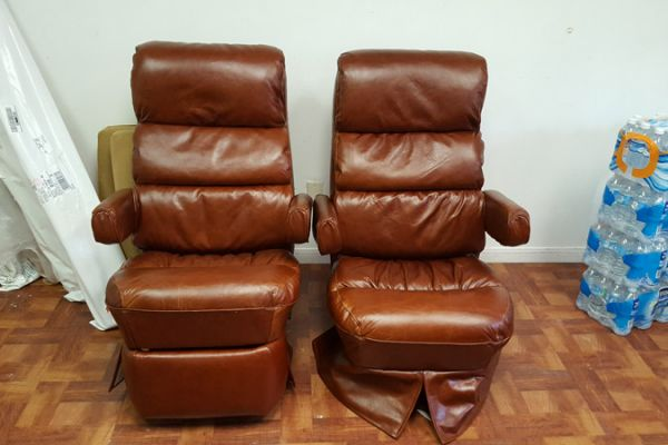 Leather RV Captain's Chairs by Elegant Upholstery in Houston