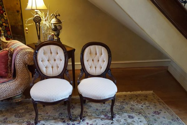 Tufted Side Chairs Reupholstered by Elegant Upholstery Houston, TX